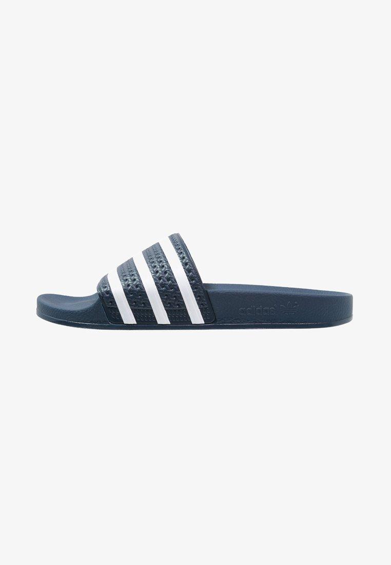 adidas Originals - ADILETTE - Sandales de bain - blue/white