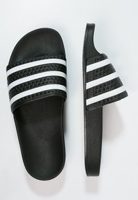 adidas Originals - ADILETTE - Pool slides - black/white - 1