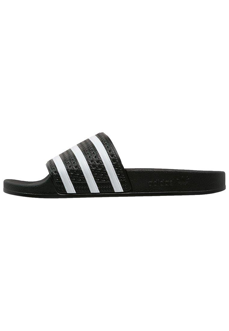 adidas Originals ADILETTE - Badslippers - black/white ...
