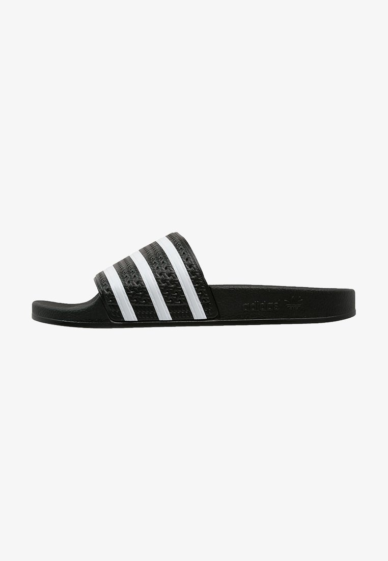 adidas Originals - ADILETTE - Pool slides - black/white
