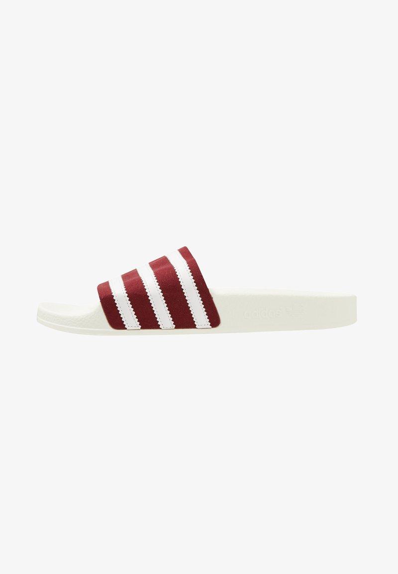 adidas Originals - ADILETTE - Mules - burgundy/offwhite