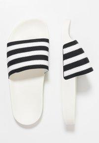 adidas Originals - ADILETTE - Muiltjes - core black/footwear white/offwhite - 1