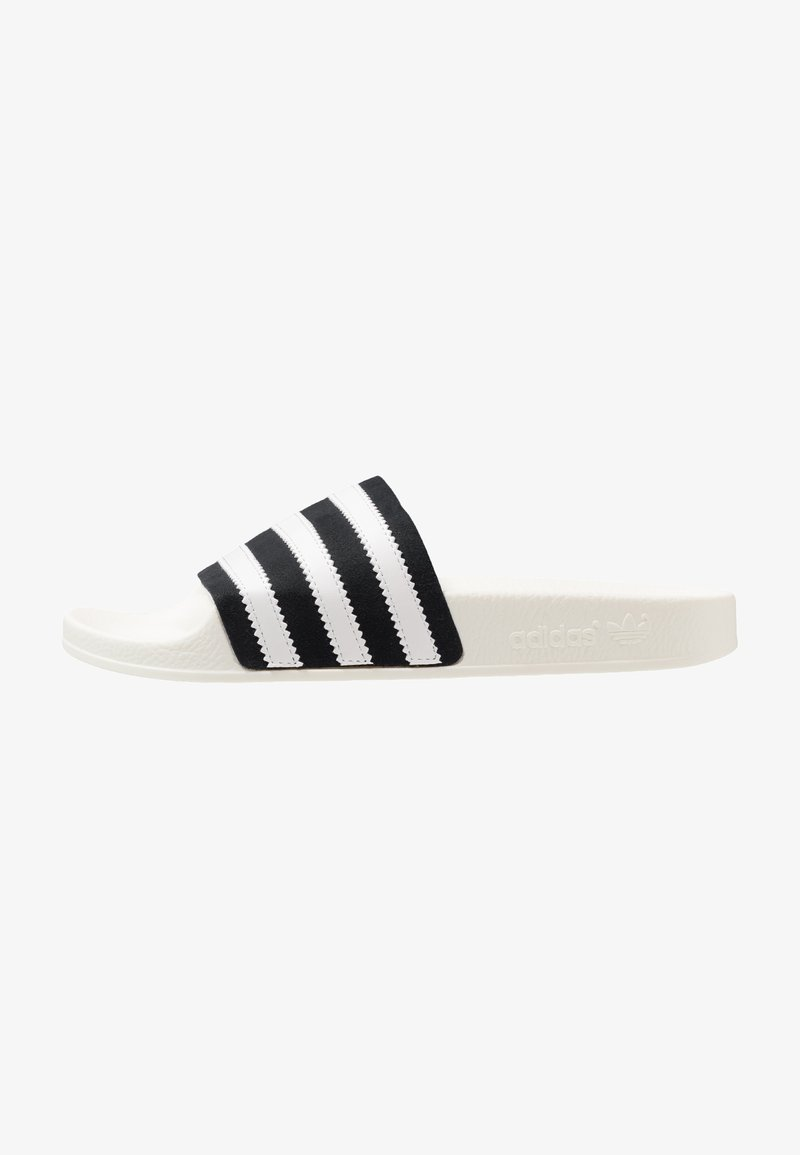 adidas Originals - ADILETTE - Muiltjes - core black/footwear white/offwhite
