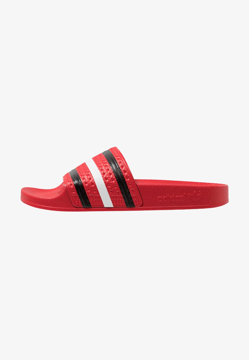 adidas Originals - ADILETTE - Sandali da bagno - scarlet/core black/footwear white