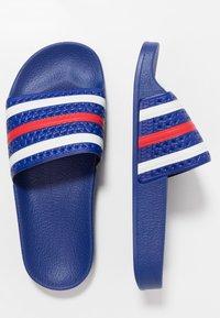 adidas Originals - ADILETTE - Sandały kąpielowe - power blue/footwear white/scarlet - 1