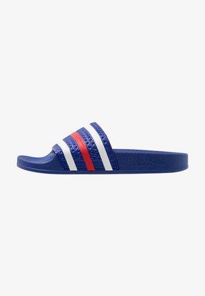 ADILETTE - Pool slides - power blue/footwear white/scarlet