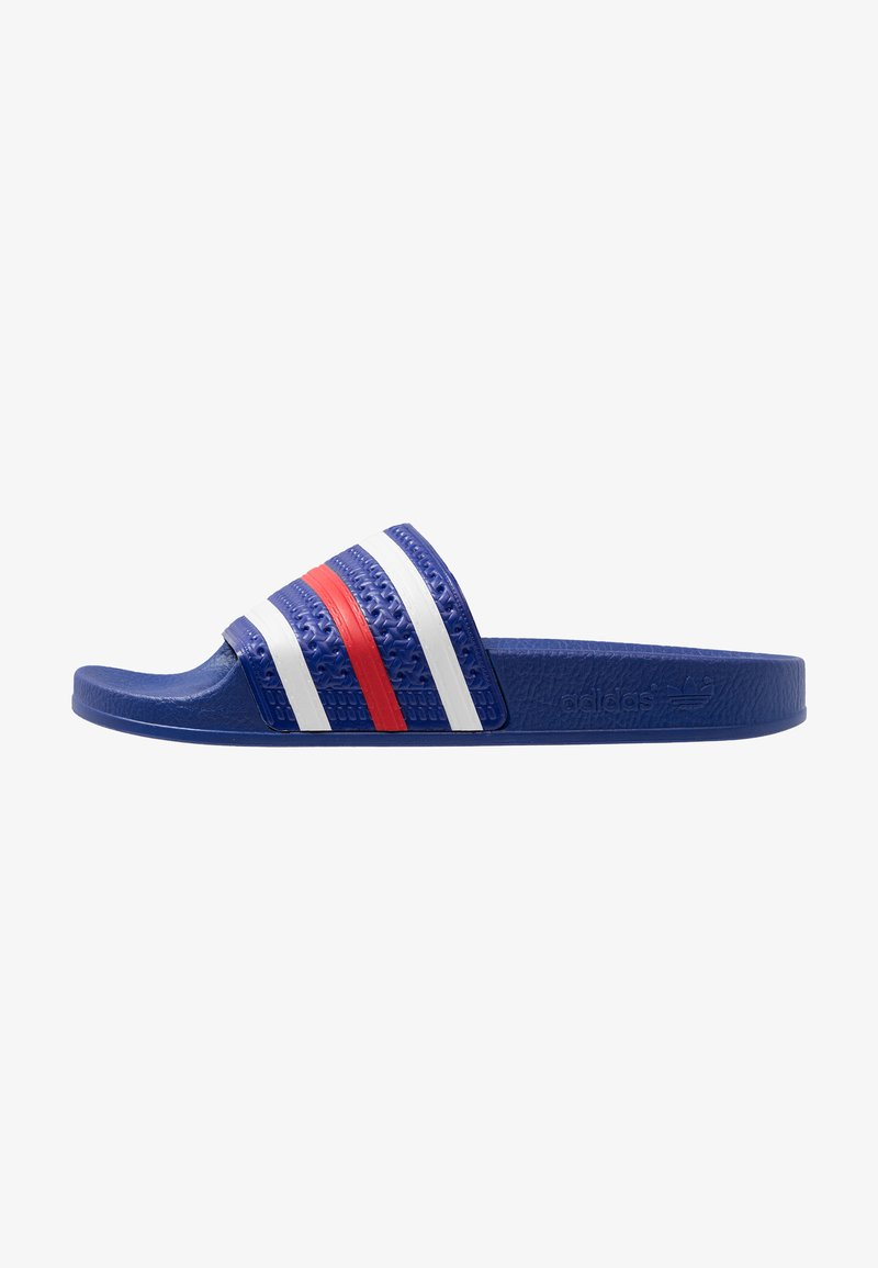 adidas Originals - ADILETTE - Pool slides - power blue/footwear white/scarlet