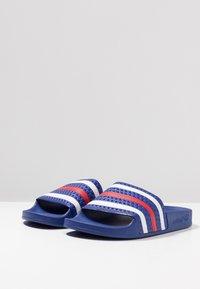 adidas Originals - ADILETTE - Sandały kąpielowe - power blue/footwear white/scarlet - 2