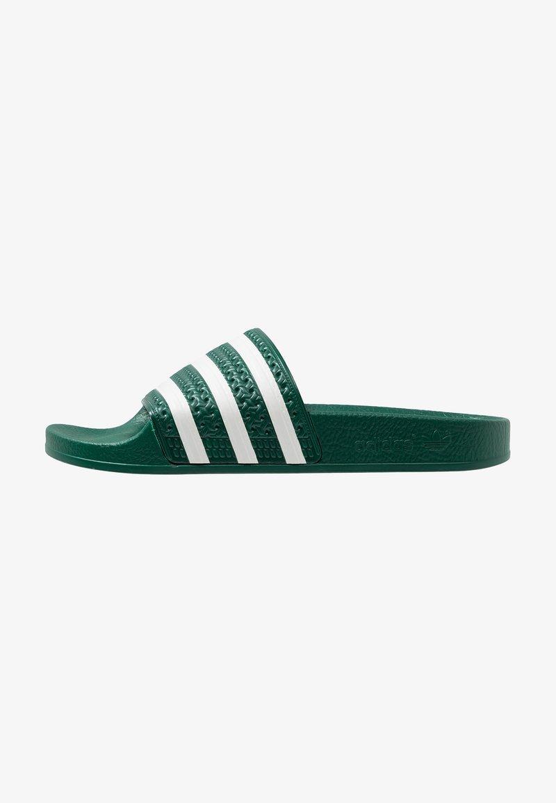 adidas Originals - ADILETTE - Pool slides - clear green/offwhite