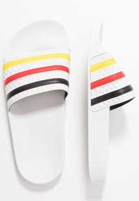 adidas Originals - ADILETTE SLIP-ON-DESIGN SHOES - Sandály do bazénu - footwear white/yellow/core black - 2