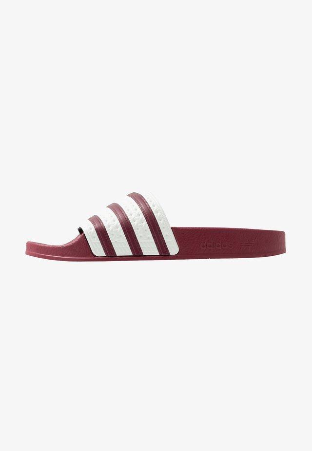 ADILETTE SLIP-ON-DESIGN SHOES - Sandali da bagno - collegiate burgundy/offwhite