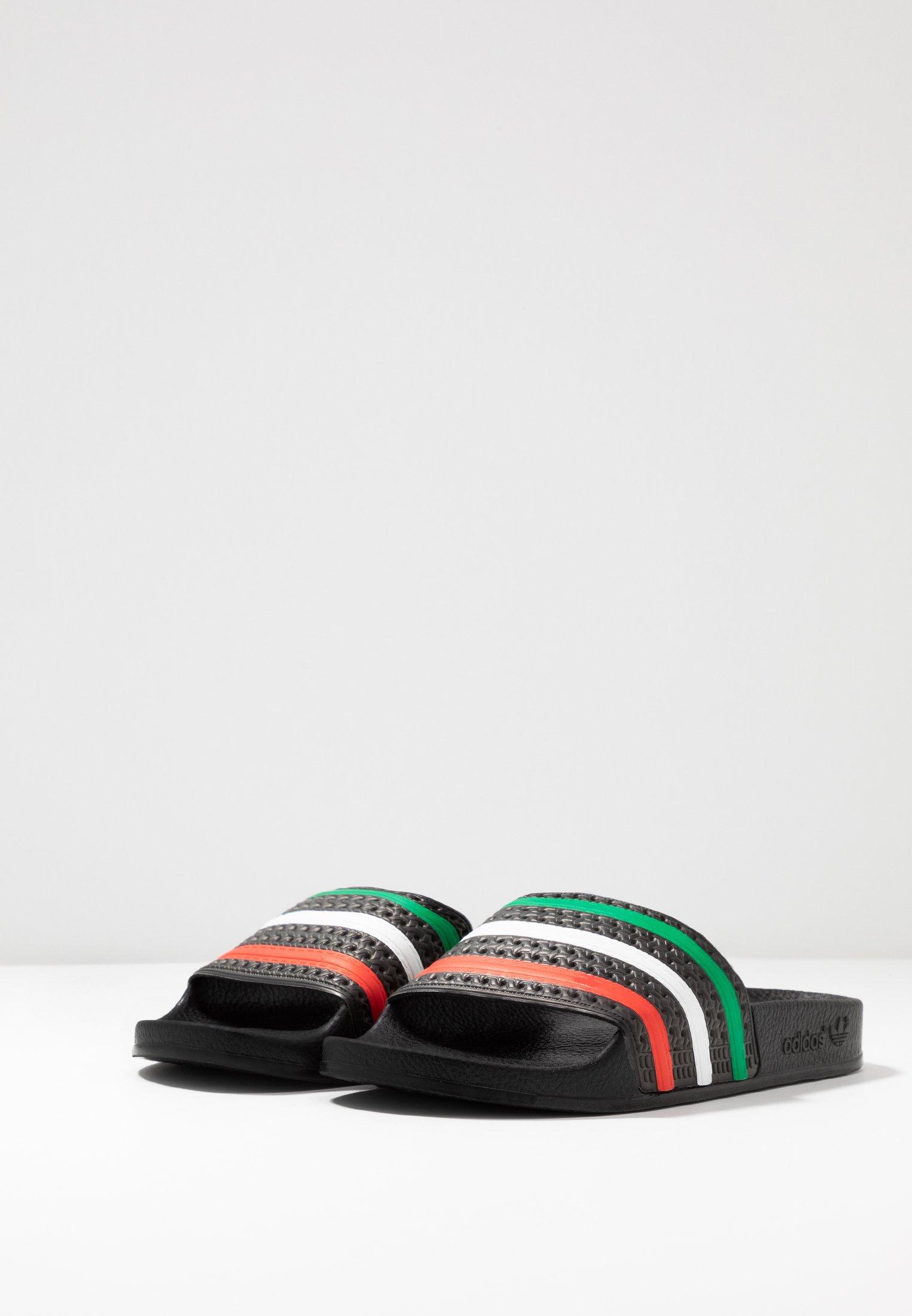 adidas Originals ADILETTE SLIP-ON-DESIGN SHOES - Badesandale - core black/red/footwear white - Black Friday