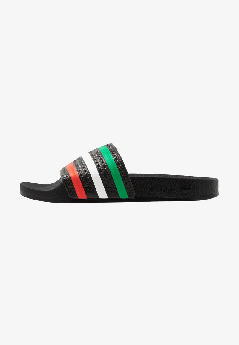 adidas Originals - ADILETTE SLIP-ON-DESIGN SHOES - Pool slides - core black/red/footwear white