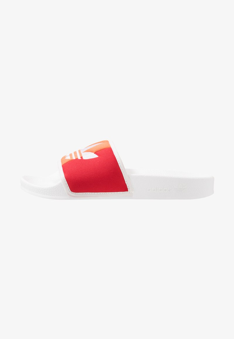 adidas Originals - ADILETTE PRIDE - Pantolette flach - footwear white/orange/scarlet