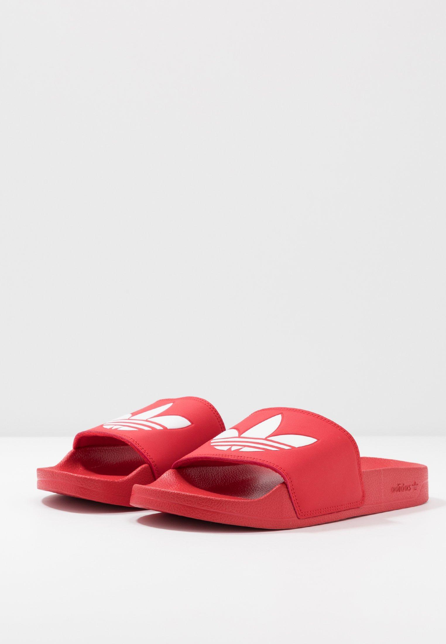 Adidas Originals Adilette Lite - Sandalias Planas Scarle/ftwwht/scarle