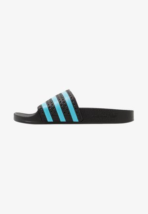 ADILETTE - Pantofle - core black/blue glow
