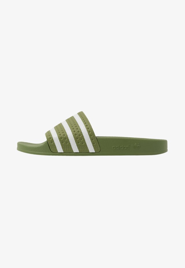 ADILETTE - Mules - forest green/super color