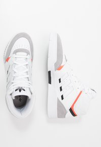 adidas Originals - DROP STEP - Sneakersy wysokie - footwear white/granit/solar red - 1