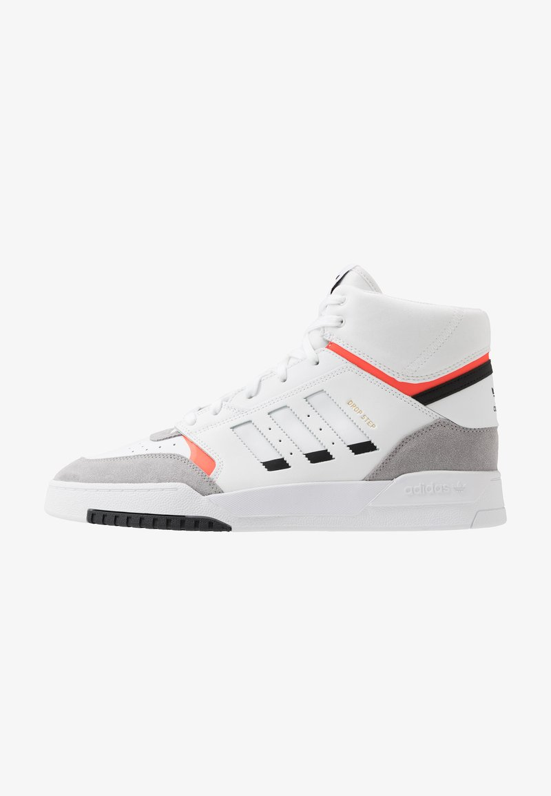 adidas Originals - DROP STEP - Sneakersy wysokie - footwear white/granit/solar red
