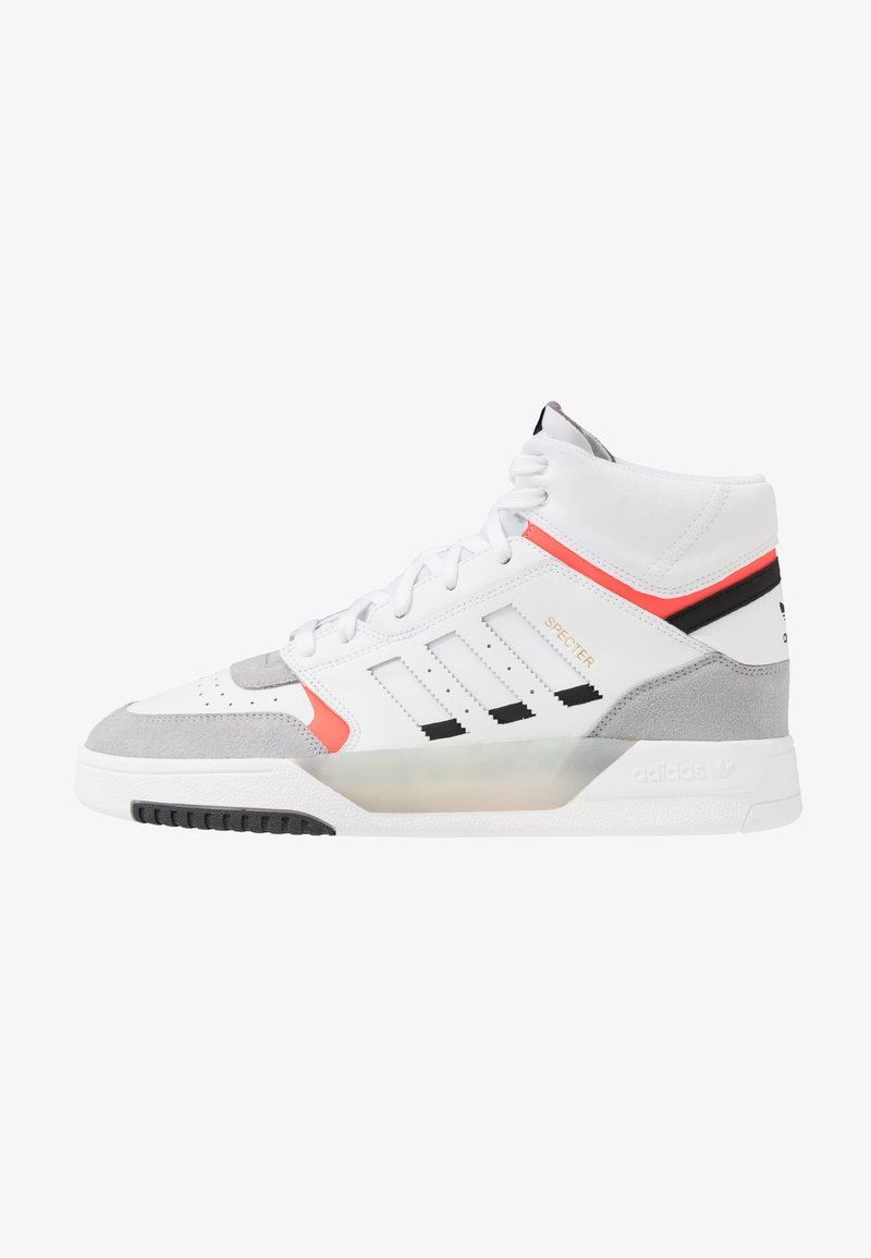 adidas Originals - DROP STEP - Sneakers high - footwear white/granit/solar red