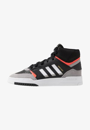 DROP STEP - Höga sneakers - core black/granit/solar red