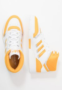 adidas Originals - DROP STEP - Vysoké tenisky - footwear white/gold/silver metallic - 1
