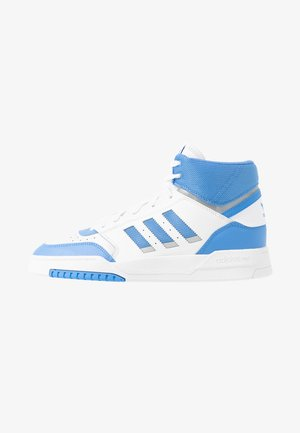 DROP STEP - High-top trainers - footwear white/real blue/silver metallic