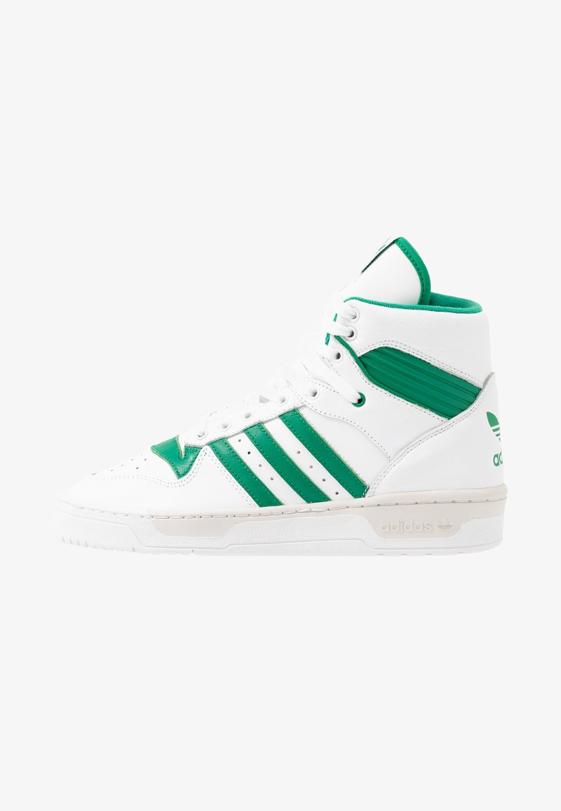 adidas Originals - RIVALRY - Sneakers hoog - footwear white/bright green/grey one