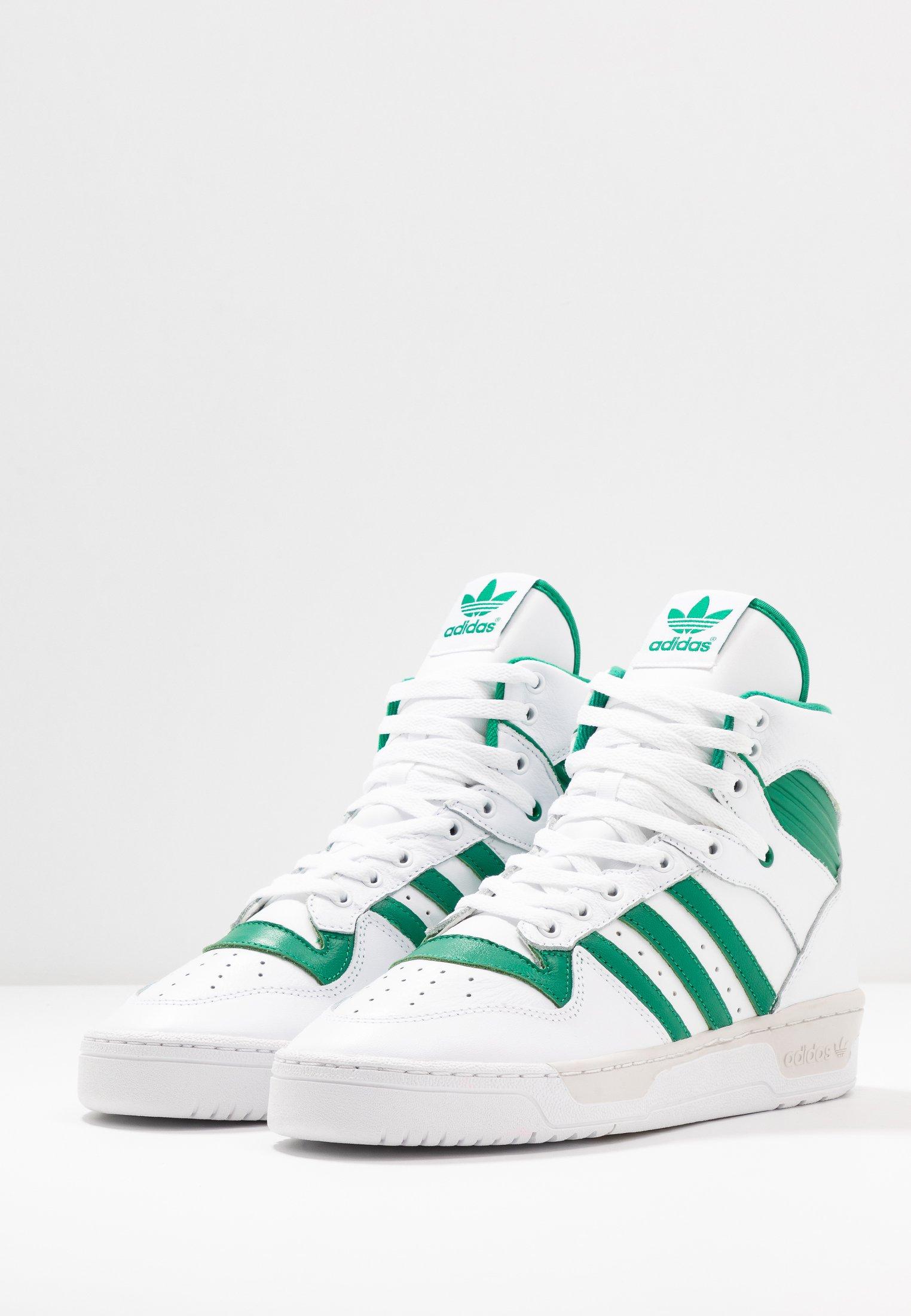 Adidas Originals Rivalry - Höga Sneakers Footwear White/bright Green/grey One
