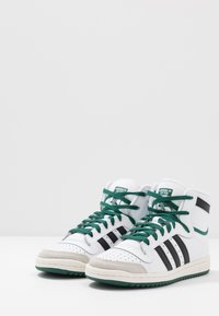 adidas Originals - TOP TEN - High-top trainers - footwear white/core black/green - 2