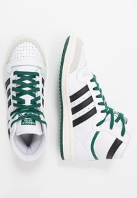 adidas Originals - TOP TEN - Zapatillas altas - footwear white/core black/green - 1