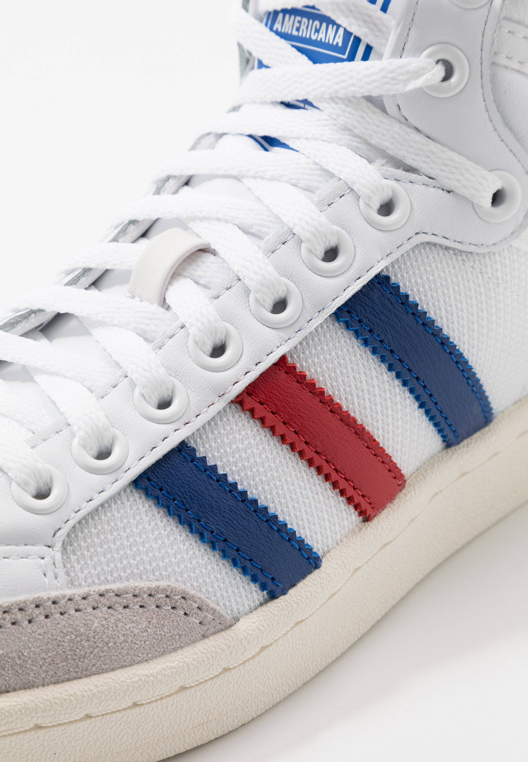 adidas Originals AMERICANA - Höga sneakers - footwear white/collegiate royal/scarlet