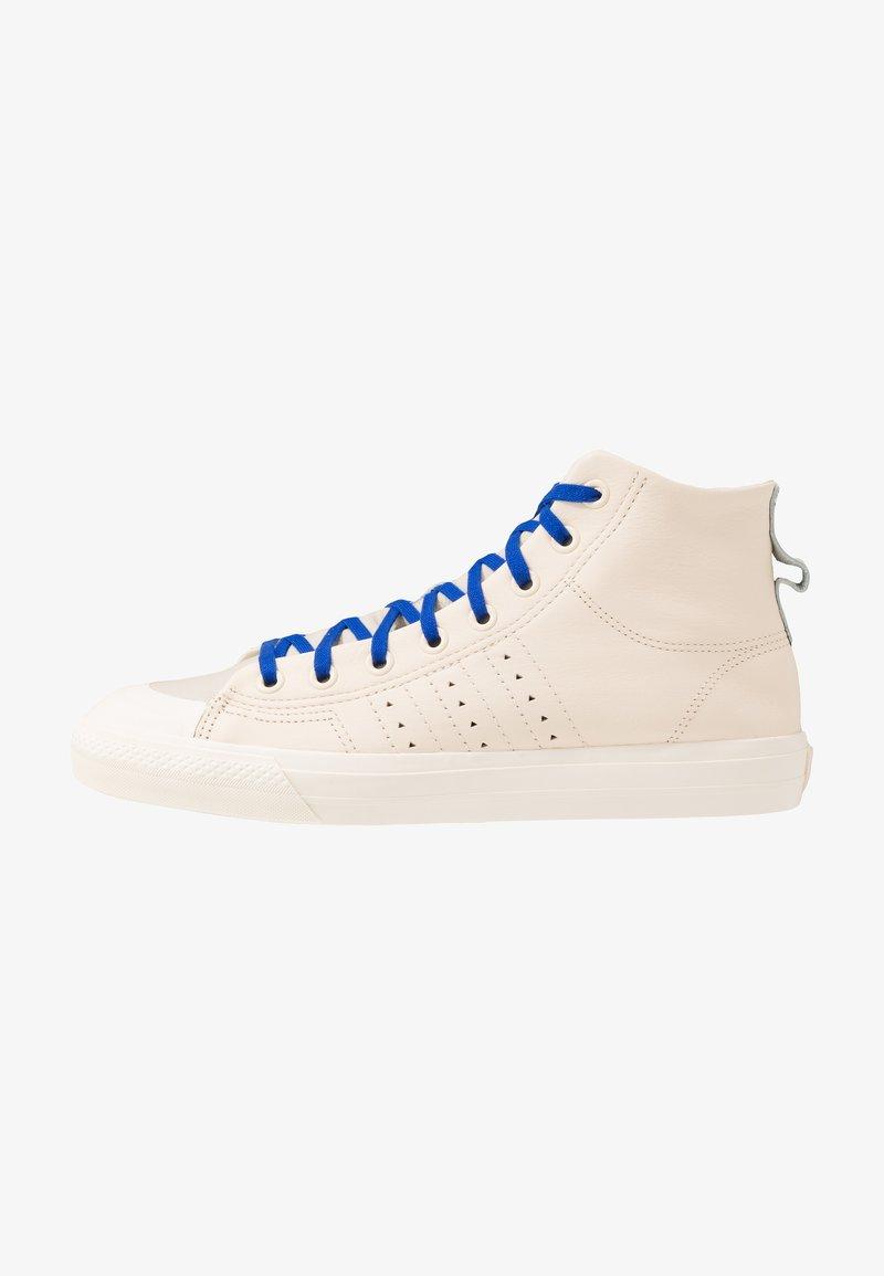 adidas Originals - PHARRELL WILLIAMS  NIZZA HI RF - Sneakers hoog - ecru tint/cream white/clear brown