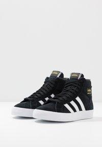 adidas Originals - BASKET PROFI - High-top trainers - core black/footwear white/gold metallic - 3