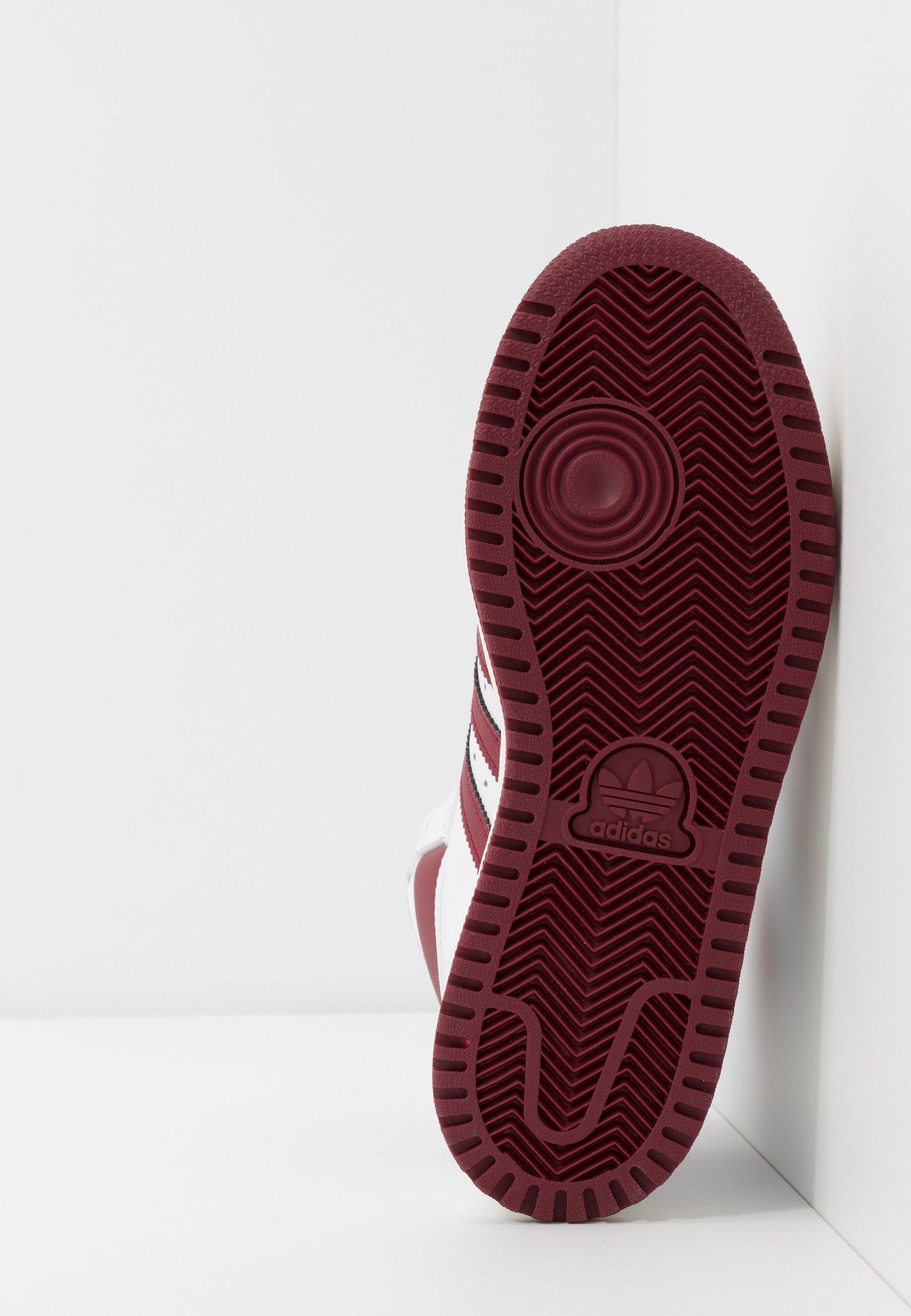 adidas Originals TOP TEN - Sneaker high - footwear white/collegiate burgundy/chalk white 7E3QZu