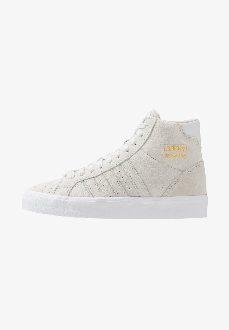 adidas Originals - BASKET PROFI - Sneakers hoog - crystal white/gold metallic