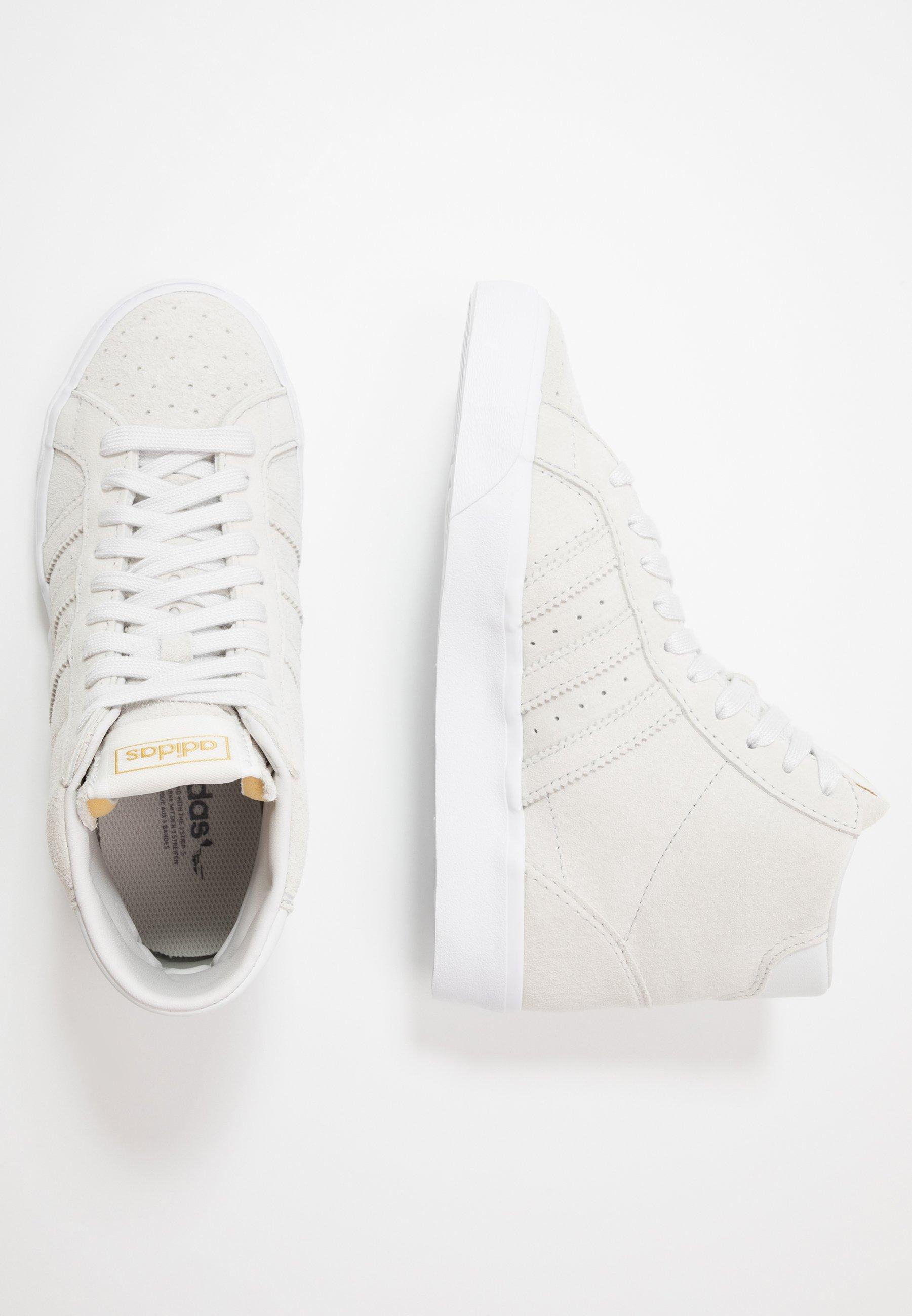 Adidas Originals Basket Profi - Höga Sneakers Crystal White/gold Metallic