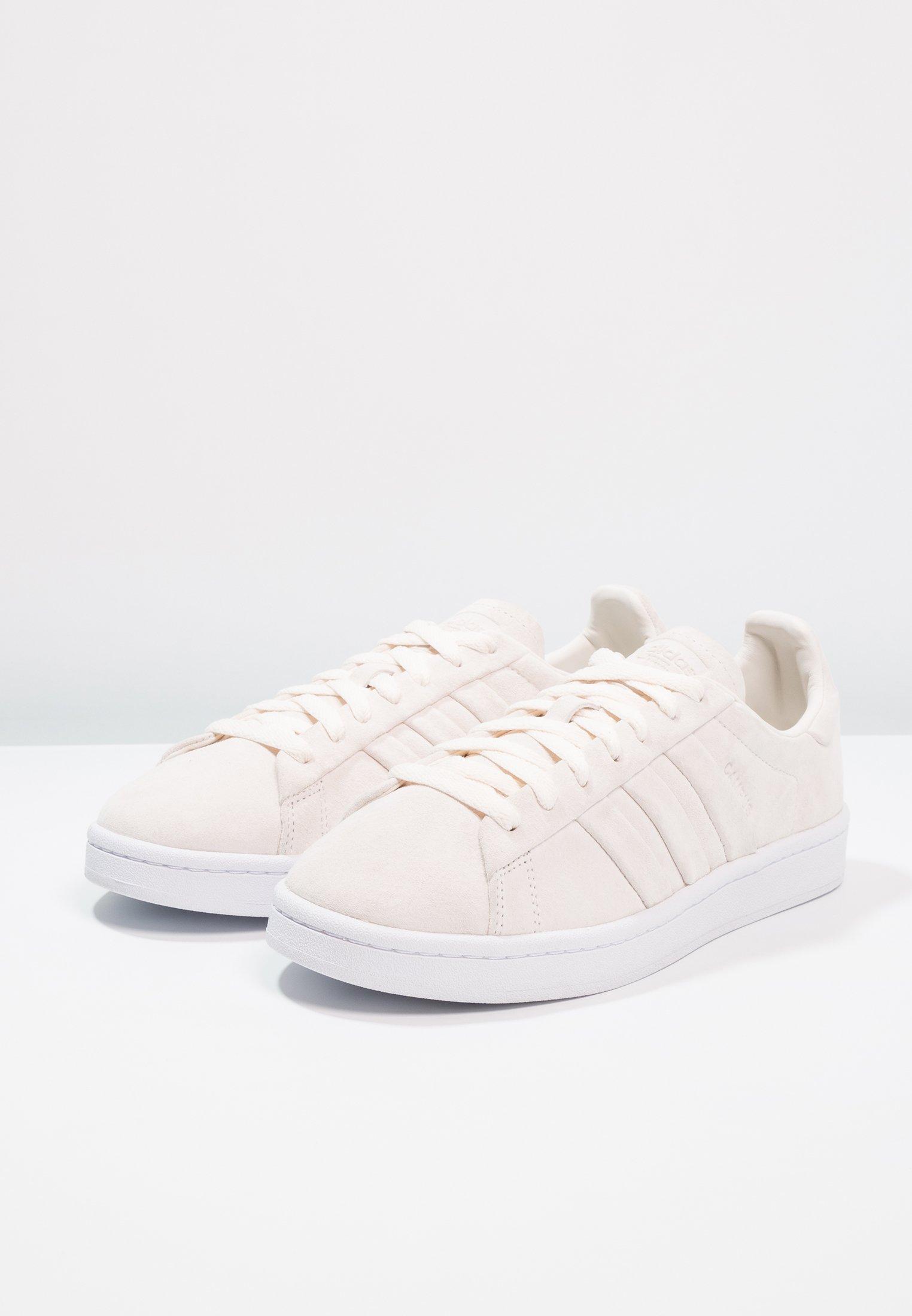 Chalk White Campus TurnBaskets Adidas White Stitch And Originals footwear Basses kiTPZOXu