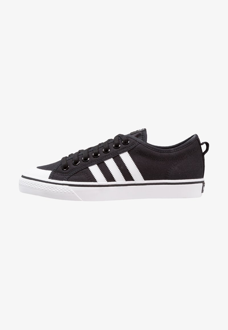 adidas Originals - NIZZA - Trainers - core black/footwear white
