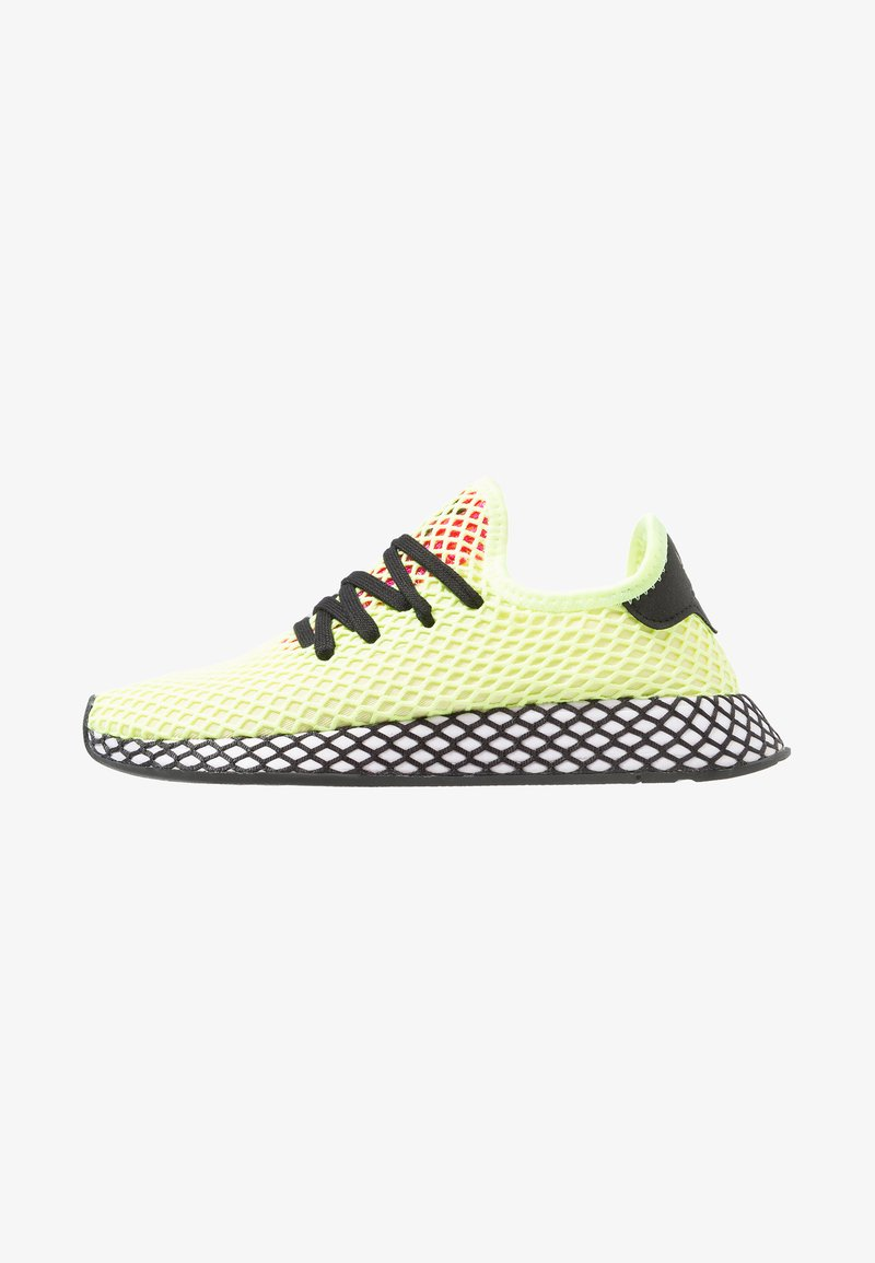 adidas Originals - DEERUPT RUNNER - Sneakers basse - hi-res yellow/core black/shock pink