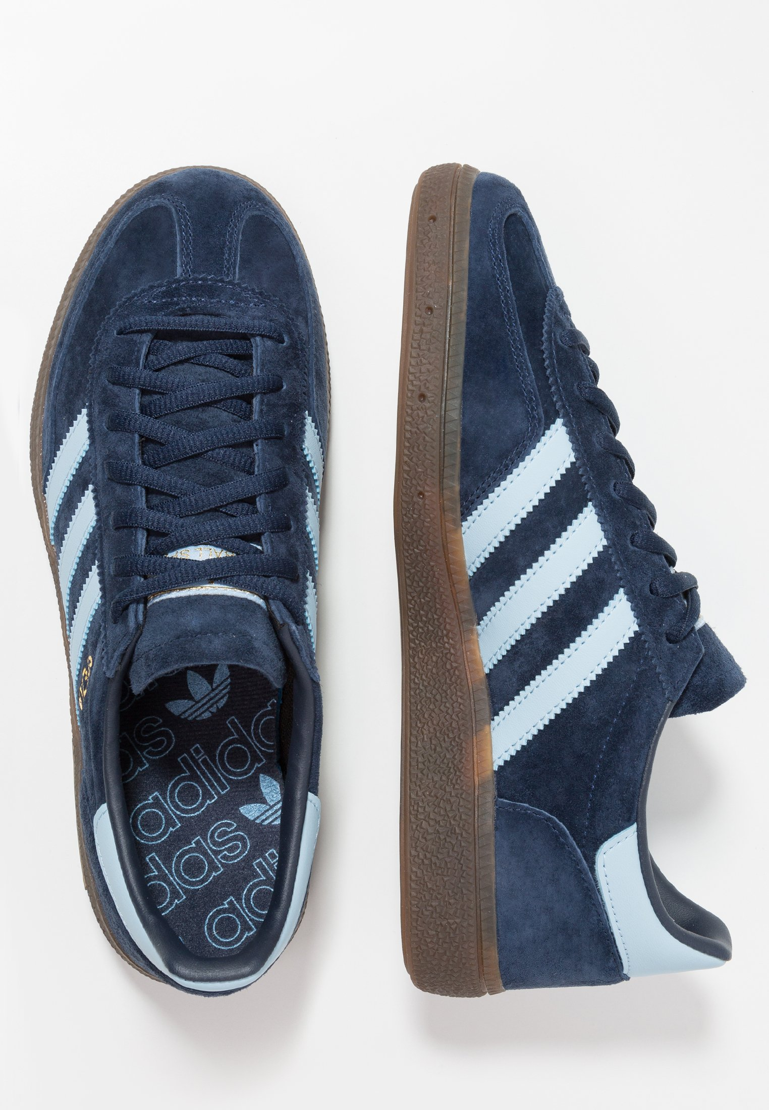 Adidas Originals Handball Spezial Streetwear-style Shoes - Joggesko Collegiate Navy/clear Sky