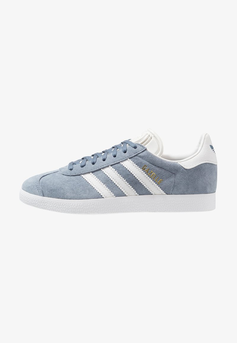 adidas Originals - GAZELLE - Sneaker low - raw steel/crystal white/footwear white