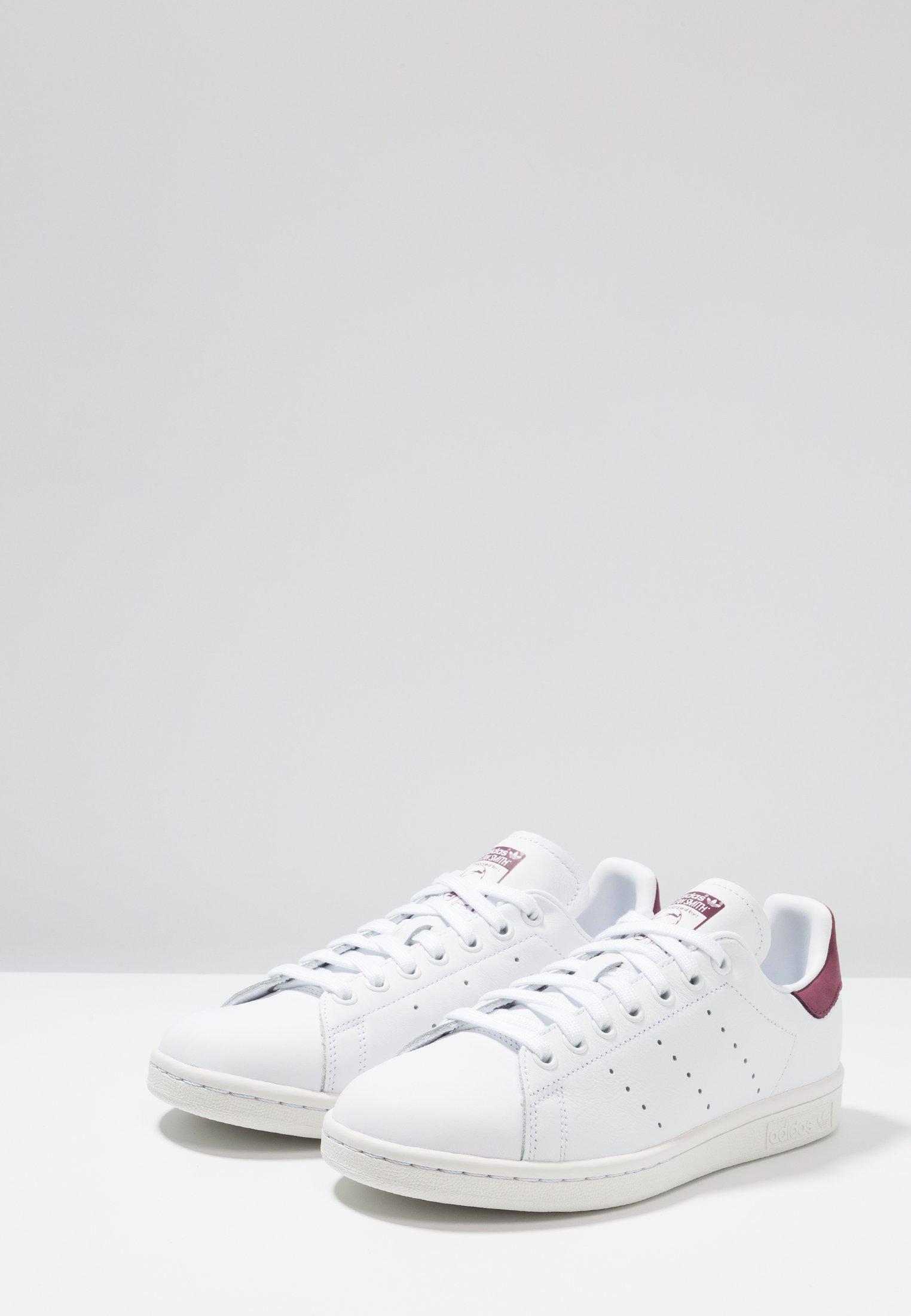 adidas footwear Originals basses SMITHBaskets STAN white maroon CsrdthQx