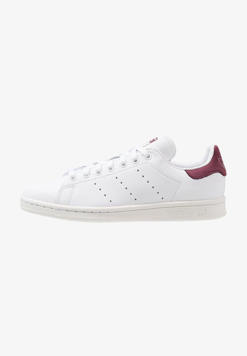 adidas Originals - STAN SMITH - Trainers - footwear white/maroon