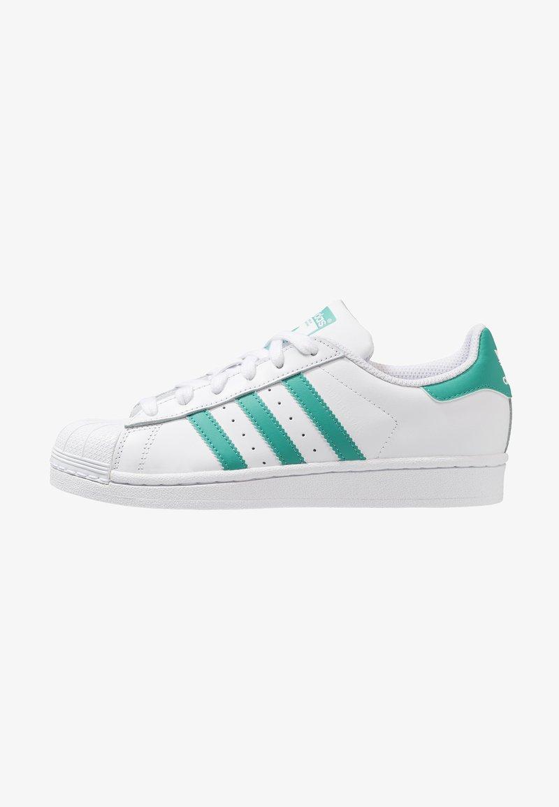 adidas Originals - SUPERSTAR - Trainers - footwear white/true green