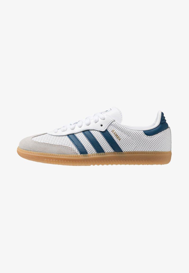 adidas Originals - SAMBA - Trainers - footwear white/legend marine/grey one