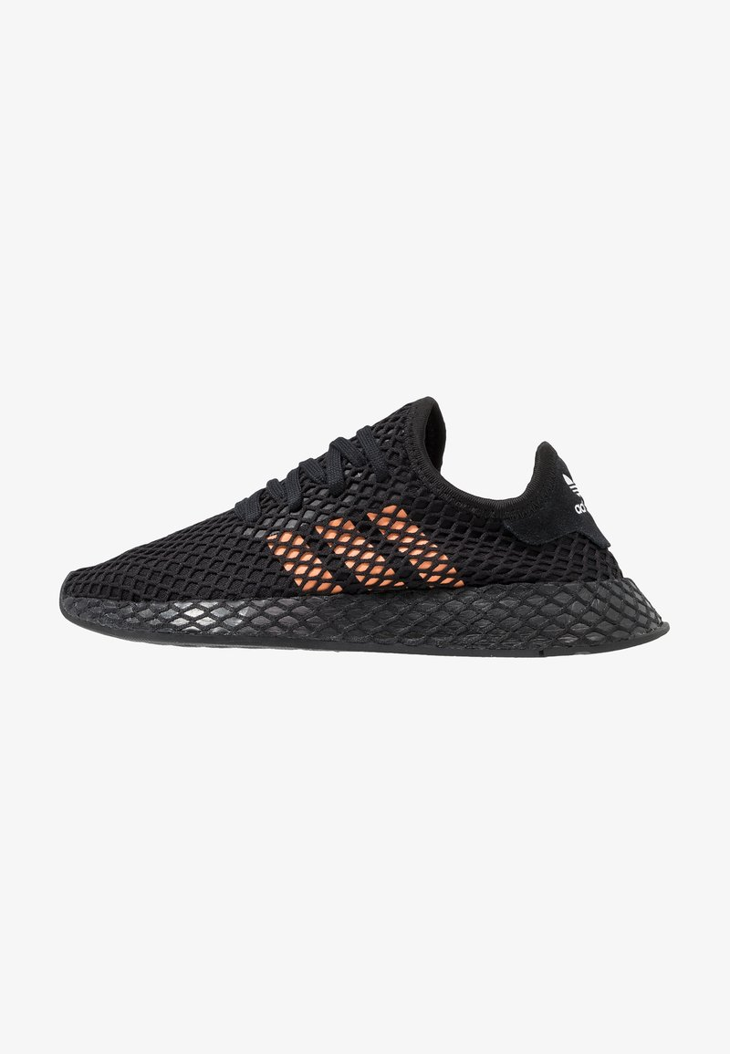adidas Originals - DEERUPT RUNNER - Sneaker low - clear black/earo solar ray/footwear white