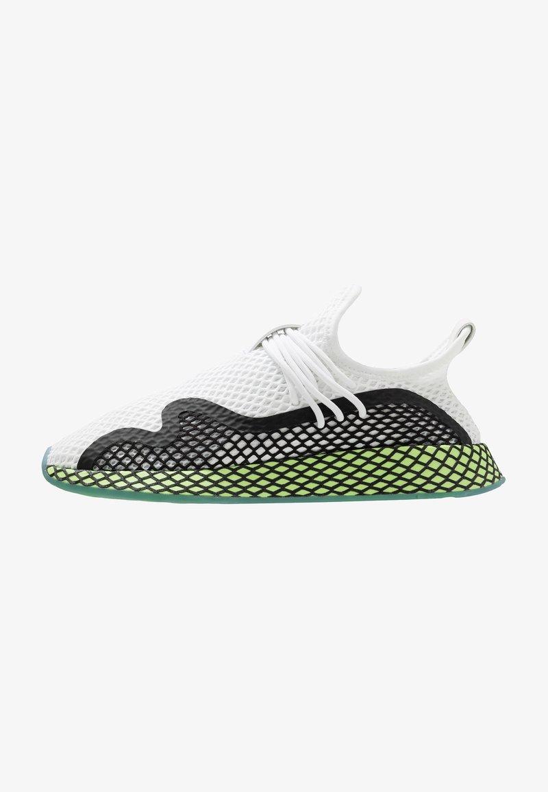 adidas Originals - DEERUPT - Sneakers laag - footwear white/core black/hi-res yellow
