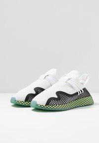 adidas Originals - DEERUPT - Sneakers laag - footwear white/core black/hi-res yellow - 2