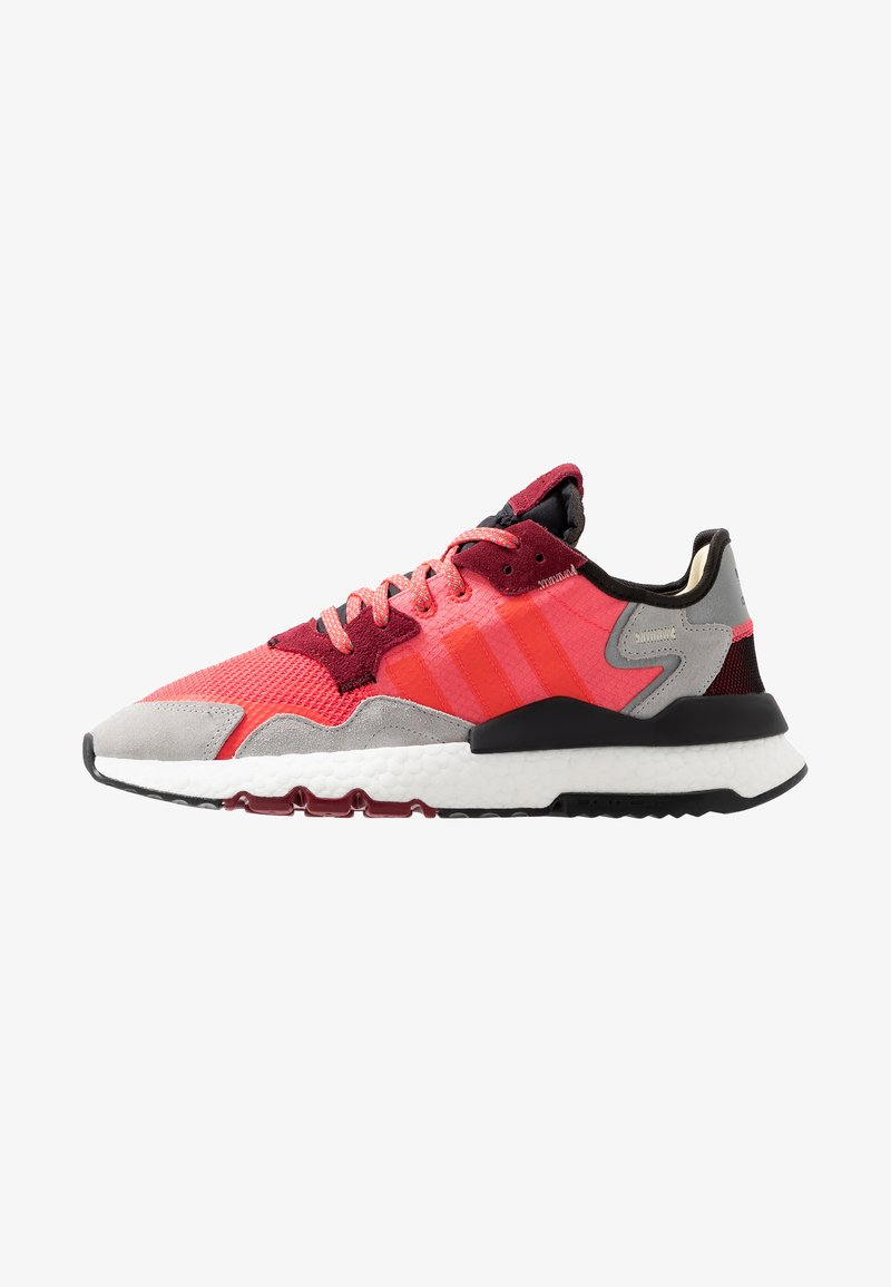 adidas Originals - NITE JOGGER - Trainers - shock pink/shock red/grey two